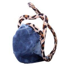 ทบทวน ที่สุด Men Heart Shaped C String Thong Underwear Denim Blue Leopard Intl
