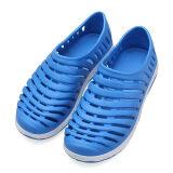 ซื้อ Men Hollow Sneakers Beach Sandals Slip On Loafer Slipper Breathable Stripe Shoes ออนไลน์ ถูก