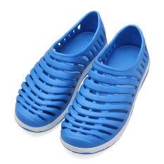 ราคา Men Hollow Sneakers Beach Sandals Slip On Loafer Slipper Breathable Stripe Shoes ใหม่