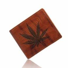 ราคา Men Leather Card Cash Receipt Holder Organizer Bifold Wallet Purse Coffee Intl Unbranded Generic เป็นต้นฉบับ