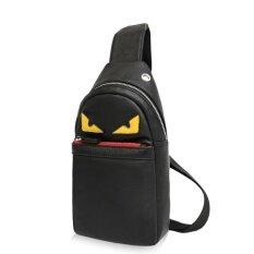 ราคา กระเป๋าเป้สะพายหลังของผู้ชายกันน้ำกระเป๋าสะพายคู่กระเป๋าถือกีฬากระเป๋าแฟชั่น หนังสีเหลืองตาสีแดงปาก ดำ นานาชาติ Unbranded Generic ออนไลน์