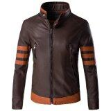 ซื้อ Men Motorcycle Pu Leather Jackets Overcoat M 5Xl Intl ออนไลน์