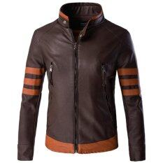 ขาย Men Motorcycle Pu Leather Jackets Overcoat M 5Xl Intl ใหม่