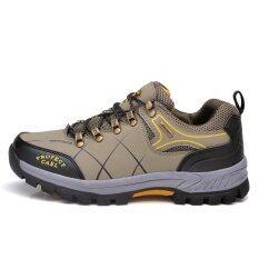 ทบทวน ที่สุด Men Outdoor Travel Hiking Shoes Sport Sneakers Professional Green
