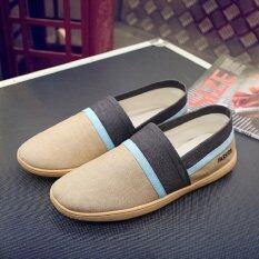 ซื้อ Men Shoes Light Soft Fashion Casual Flats Men Loafers Comfortable Driving Shoes Breathable Intl ออนไลน์ ถูก
