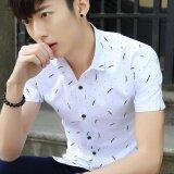 ราคา ชายแขนสั้นเสื้อลำลองธุรกิจฤดูร้อนสลิมเยาวชนชายปกเสื้อผ้าเสื้อยืด ออนไลน์ จีน