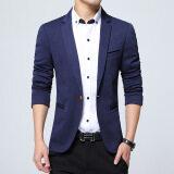 ขาย ซื้อ เสื้อสูทแบบบุรุษพอดีกับฝ้ายเสื้อสูทแจ็คเก็ตสูทสีดำสีกากีสีฟ้าบวกขนาดเอ็มถึง 5Xl เสื้อคลุมชาย สีฟ้า ใน จีน