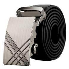 ขาย Men Stylish Leather Automatic Buckle Belts Luxury Waist Strap Belt Waistband Hot B ใหม่