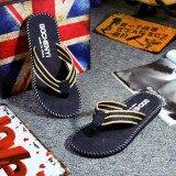 ราคา Men Summer Flip Flops Shoes Sandals Male Slipper Flip Flops Intl ถูก