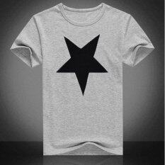 ขาย Men Summer Short Sleeve Five Pointed Star Print T Shirt Intl ใน จีน