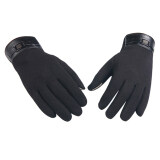 ส่วนลด Men Winter Warm Full Finger Smartphone Touch Screen Cashmere Gloves Mittens Intl
