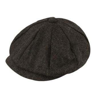 2444e818a74 Men Women Peaked Cap Cabbie Newsboy Gatsby Flat Ivy Golf Baker Beret Flat  Sun Hat Coffee