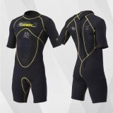 ซื้อ Men Women Unisex Professional Sport 3Mm Neoprene Patchwork Knee Length Diving Wetsuit 8082 Intl จีน
