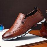 ราคา รองเท้าสำหรับนักธุรกิจสำหรับผู้ชายรองเท้าหนังอย่างเป็นทางการรองเท้าลำลอง Men S Business Working Shoes Formal Leather Shoes Casual Shoes Intl ใหม่