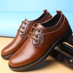 ขาย รองเท้าหนังวัวแท้ของชำร่วยแบนรองเท้าขับรถรองเท้า เป็นต้นฉบับ