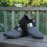 ราคา Men S Fashion Slip On Running Shoes Sport Sneakers New Outdoor Casual Shoes Grey Intl จีน