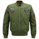 ทบทวน ที่สุด ผู้ชาย Airforce 1 เสื้อแจ็คเก็ตเครื่องบินทิ้งระเบิดสายการบินคอ นานาชาติ