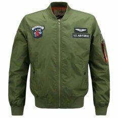ราคา ผู้ชาย Airforce 1 เสื้อแจ็คเก็ตเครื่องบินทิ้งระเบิดสายการบินคอ นานาชาติ ถูก
