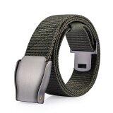 ความคิดเห็น Mens Automatic Buckle Canvas Belt Youth Juvenile Outdoors Leisure Belt Intl
