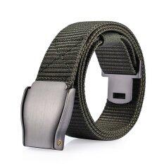 ขาย ซื้อ Mens Automatic Buckle Canvas Belt Youth Juvenile Outdoors Leisure Belt Intl จีน