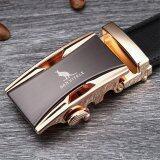 ขาย Men S Belt 100 Good Quality Genuine Cow Leather Luxury Men S Belts For Men Strap Metal Automatic Buckle 125Cm Gold Intl ใน จีน