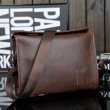 ซื้อ Men S Briefcase Casual Business Leather Shoulder Bag Men Messenger Handbag Bag Coffee Intl จีน