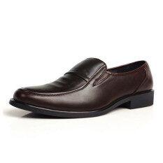 ราคา ผู้ชายแต่งตัวปลอมเป็นทางการธุรกิจรองเท้าหนังลื่นแบบ Loafers ใหม่ล่าสุด