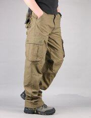 ส่วนลด Men S Cargo Pants Casual Mens Pant Multi Pocket Military Overall Men Outdoors High Quality Long Trousers Khaki Intl Unbranded Generic