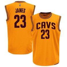 ซื้อ Men S Cleveland Cavaliers 23 Lebron James Basketball Jerseys Intl ถูก