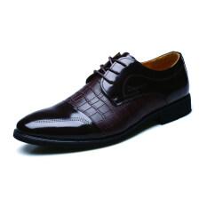 ขาย Men S Crocodile Formal Dress Oxford Wedding Shoes Brown เป็นต้นฉบับ