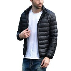 ขาย Men S Down Jacket Coat Ultra Lightweight Packable Puffer With Travel Bag Intl ออนไลน์
