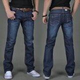 ขาย Men S Fashiom Casual Wild Straight Slim Jeans Trousers Intl ออนไลน์ ใน จีน