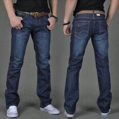 ส่วนลด Men S Fashiom Casual Wild Straight Slim Jeans Trousers Intl Unbranded Generic