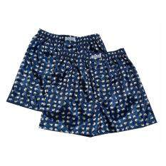 ความคิดเห็น Men S Fashion Boxer สีกรมน้ำเงิน พิมพ์ลายช้างขาว สีน้ำเงินม่วง Indigo Blue Dark Blue กางกางใส่นอน กางเกงชั้นในชาย กางเกงขาสั้น กางเกงใส่สบาย กางเกงใส่อยู่บ้าน บ็อกเซอร์ 2 ตัว