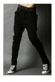 ส่วนลด Men S Fashion Casual Harem Pants Solid Color Pants Wei Pants Black