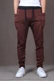 โปรโมชั่น Men S Fashion Casual Harem Pants Solid Color Pants Wei Pants Brown ถูก