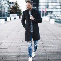 ราคา ผู้ชายแฟชั่นเสื้อสเวตเตอร์ถักเสื้อแจ็คเก็ตฤดูหนาวผู้ชายเสื้อเสื้อกันลม นานาชาติ ออนไลน์