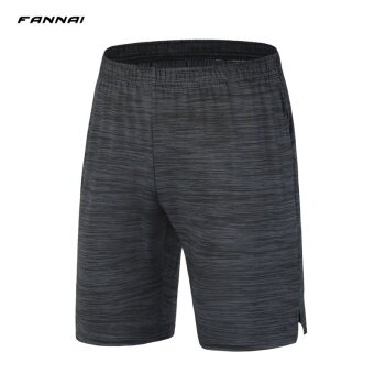 ผู้ชายออกกำลังกายวิ่งกีฬายืดระบายอากาศได้อย่างรวดเร็วแห้งกางเกงขาสั้น-นานาชาติ