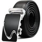 ความคิดเห็น Men S Genuine Leather Ratchet Belt With Automatic Sliding Buckle Size 45 Inch Intl