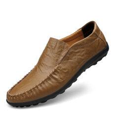 ซื้อ รองเท้าใส่ในรถผู้ชายรองเท้าหนังใส่สบายรองเท้าสบาย ๆ รองเท้าสำหรับนักษัตร Men S Genuine Leather Shoes Causal Shoes ออนไลน์