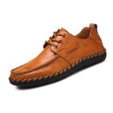 ขาย รองเท้าหนังวัวแท้แฟชั่นรองเท้าหนัง Comfortable ธุรกิจ ขับรถ สีเหลือง ออนไลน์