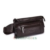 ขาย Men S Genuine Leather Vintage Messenger Shoulder Sling Chest Pouch Hip Bum Belt F*Nny Pack Waist Bag Intl ออนไลน์ จีน