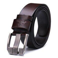 ทบทวน ที่สุด Men S High Quality Fashion Casual Leather Belts Brown 35Mm Can Adjust The Length Intl
