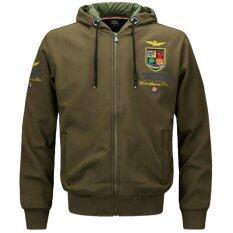 ความคิดเห็น ผู้ชายฮู้ดลำลองกองทัพอากาศเสื้อแจ็คเก็ตทนกว่าแจ็คเก็ต กองทัพสีเขียว นานาชาติ