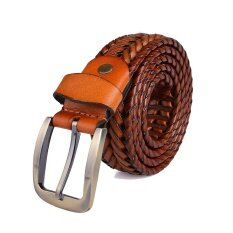 ราคา Men S Leather Belt Knitting Belt Leather Belt Breathable Leather Belt Restoring Ancient Ways Intl ออนไลน์ จีน