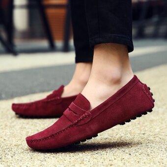 รองเท้าหนังผู้ชาย รองเท้าเมล็ดถั่ว รองเท้าเท้ารองเท้าสบายๆของอังกฤษ-นานาชาติ