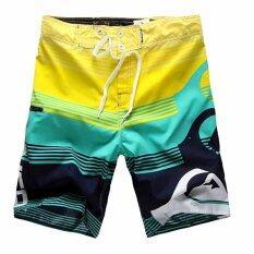 ทบทวน ที่สุด Men S New Fashion Beach Shorts Quick Drying Drawstring Boardshorts Surfing Shorts Intl