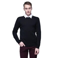 ขาย Men S Plain Sweaters O Neck Jumper Sweater Pullover New Intl ออนไลน์ ใน Thailand