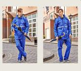 ความคิดเห็น Men S Reflective Tape Rain Coat Working Raincoat Travel Hiking Outdoor Rainsuit Royal Blue Intl