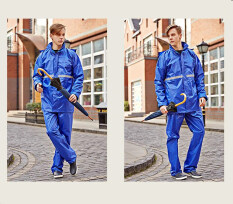 Men S Reflective Tape Rain Coat Working Raincoat Travel Hiking Outdoor Rainsuit Royal Blue Intl เป็นต้นฉบับ
